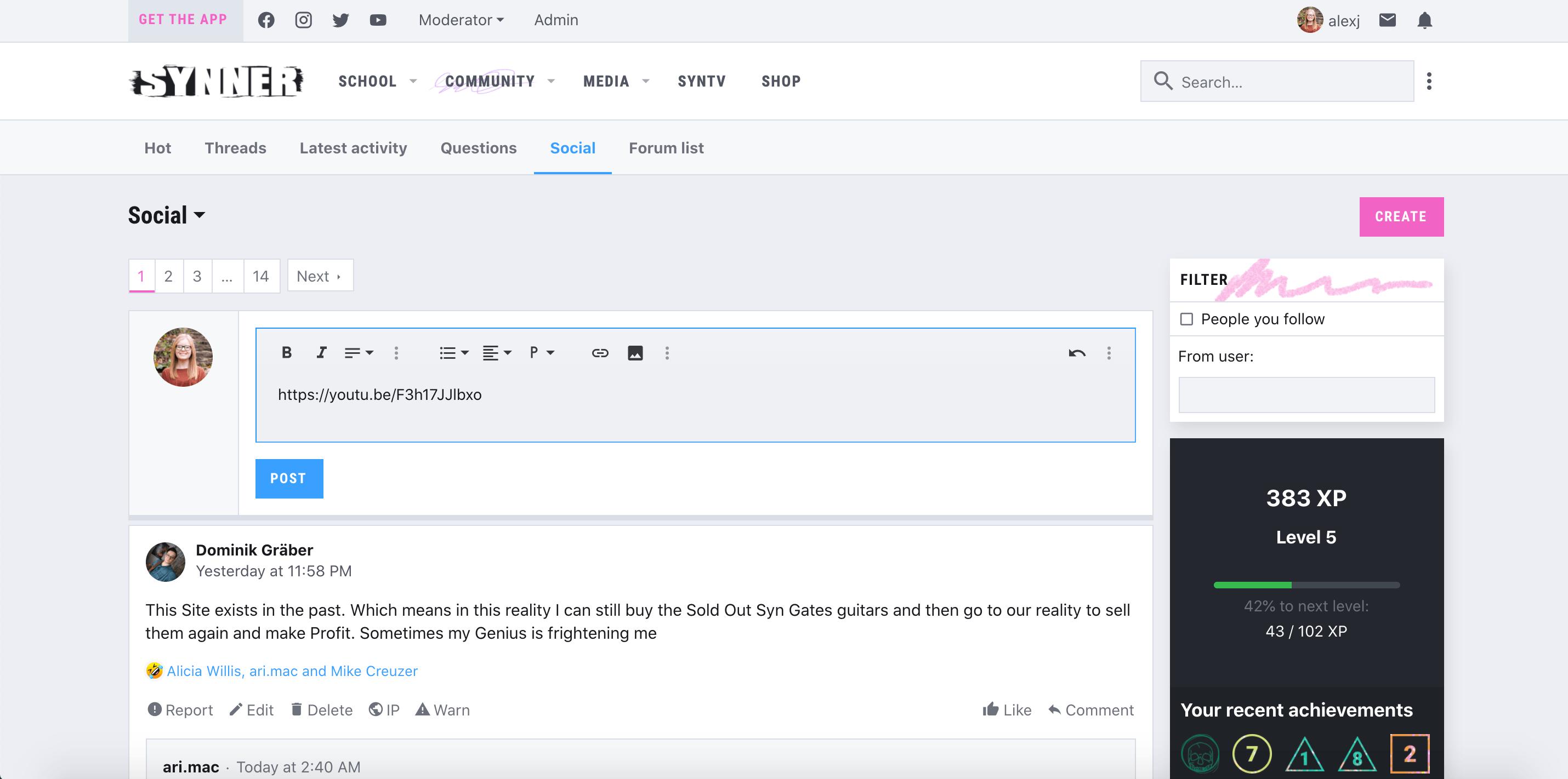 Adding media to posts